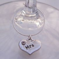 Mrs Wine Glass Charms